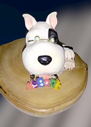 Винтажная статуэтка-копилка белая собачка