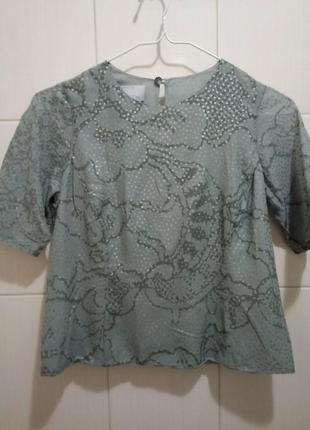 Винтажная шелковая блуза, топ