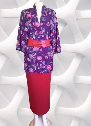 Фиолетовый кардиган без застежки, накидка new look, принт цвет...