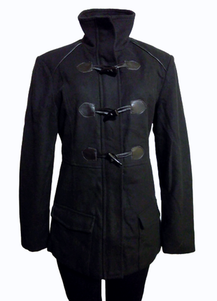 Стильное черное полу пальто на молнии rampage