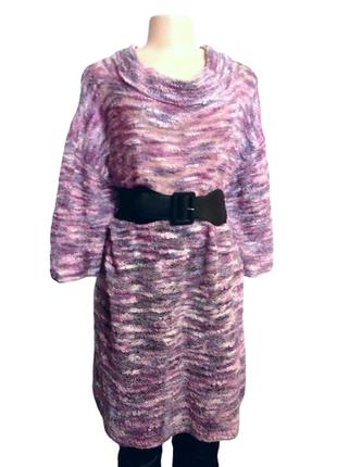 Вязаное мохеровое платье с хомутом, или длинный свитер на все ...