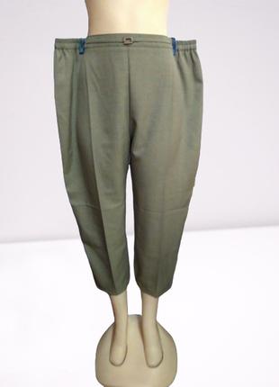 Укороченные брюки, большой размер, пояс на резинке