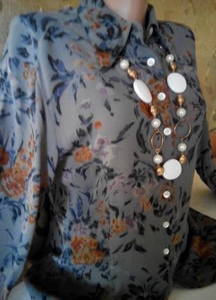 Красивая блуза наш 46-48 вискоза 100%пог-52 индия.