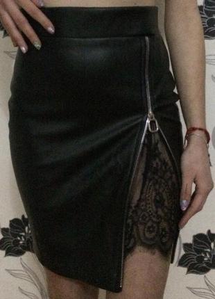 Продам кожаную юбку