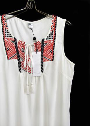 Скидка до 20.03! воздушное платье с вышивкой в этно-стиле р.16