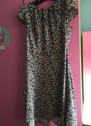 Летнее платье цветочный принт из вискозы. 100% вискоза