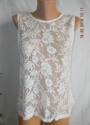 Новая белая кружевная блуза