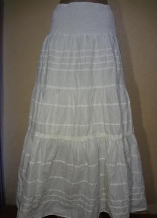 Длинная хлопковая юбка yessica размер m l