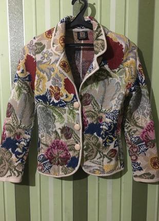 Винтаж кардиган пиджак 100% шерсть кофта брендовая