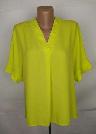 Блуза стильная салатовая легкая primark uk 6/34/xs