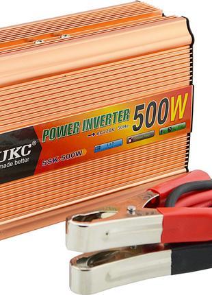 Преобразователь UKC авто инвертор 12V-220V 500W + USB Gold