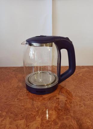 Стеклянный электрический чайник Wimpex WX 2534 с подсветкой