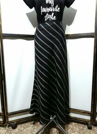 Льняная юбка макси в полоску бренд alex&co