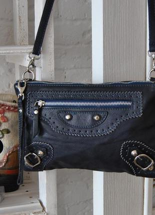 Кожаная сумка кроссбоди borse in pelle / шкіряна сумка