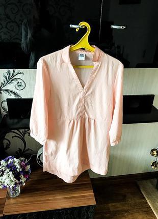 Нежно розовая красивая ,кофточка ,туника ,блуза