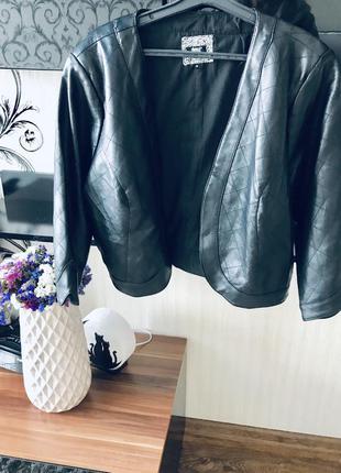 Женская кожанка ,стеганая ,пиджак кожаный женский