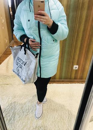 Новая тёплая женская зимняя куртка на синтепоне