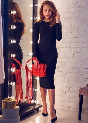 Женское платье футляр чёрное
