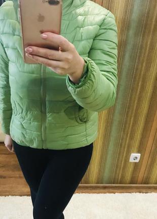 Куртка зелёная на синтепоне с  женская,куртка  спортивная холо...