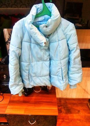 Голубая куртка женская на синтепонеи