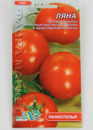 Томат Ляна круглый красный ранний, семена 0.3 г