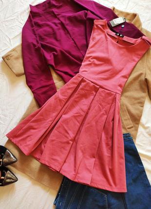 Розовое платье новое с биркой bik bok с открытой спиной трикот...