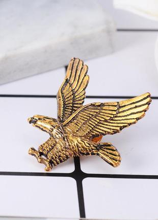 Мужская брошь на одежду летящий орел, значок на одежду птица з...