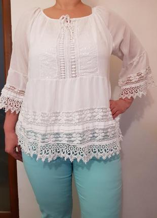 Шикарная кружевная,ажурная блузка