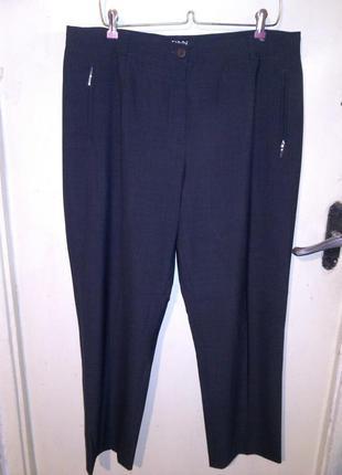 43%шерсть,стрейч,зауженные серые брюки с карманами,большого ра...