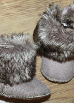 Сапожки с мехом для малыша h&m