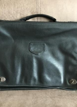 Чёрная мужская сумка портфель из кожзама