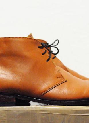 46 р, мужские туфли/ботинки samuel windsor handmade кожанные c...