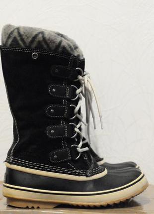 37.5/23.5 см, женские зимние теплые ботинки sorel -40, очень т...