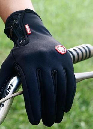 Хит 2019! спортивные сенсорные перчатки флисовые windstopper в...