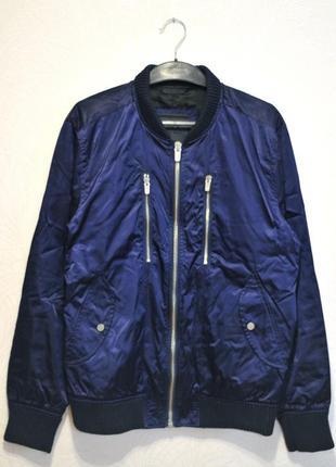 Zara man мужская куртка бомбер, утепленная чоловіча ветровка