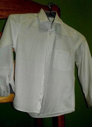 Белая фирменная рубашка armani junior