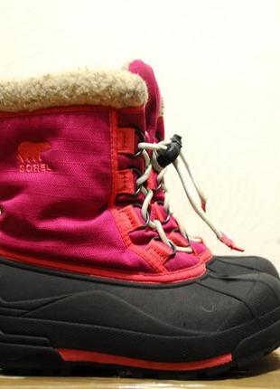 Sorel, детские зимние теплые ботинки водонепроницаемые, зимові...