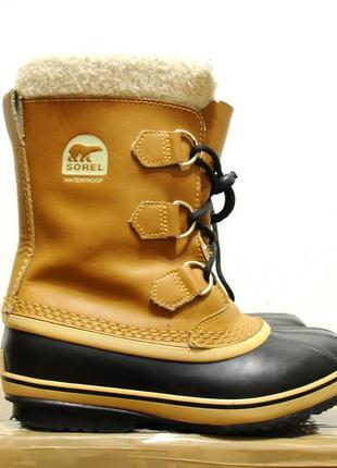 Sorel (канада), детские/женские зимние теплые ботинки, salomon...