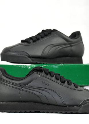 37,5 р, Puma roma оригинал, женские спортивные кроссовки чёрные