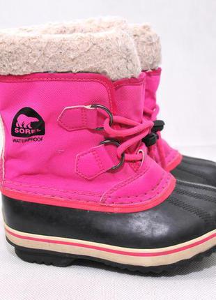 Sorel, зимние ботинки дутики для девочки,  снегоходы сноубутсы...