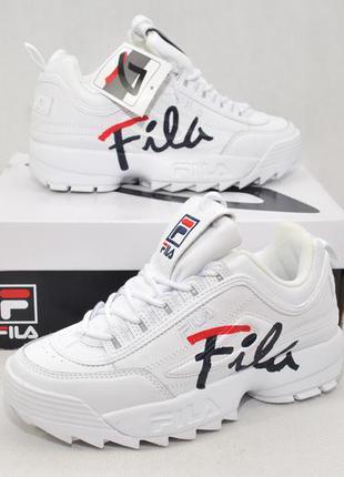 Fila disruptor 2 ii script premium, женские кроссовки оригинал...