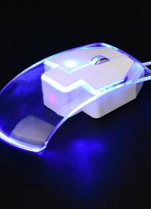 Проводная оптическая мышь optical mouse прозорая светящаяся