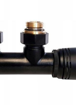 Термостатичний комплект Invena типу DUOPLEX, 50мм, чорний, CZ-...