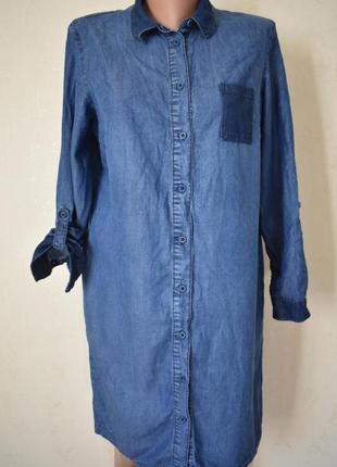 Джинсовое платье-рубашка marks & spencer
