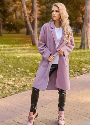 Пальто міді з накладними кишенями / осенее пальто в 6ти цветах