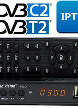 Т2 тюнер World Vision T62D DVB-T2,C,USB,IPTV,WI-FI,Акция!Доставка