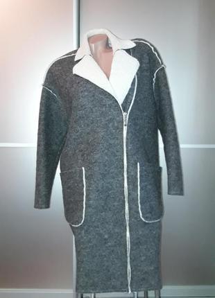 Пальто/дубленка/косуха/шерсть/молния/карманы