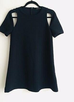 № 16 фактурное платье интересного кроя с открытыми плечами от ...