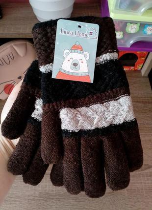 Распродажа! мужские вязаные перчатки коричневый/черный/бежевый...