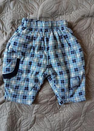 Теплые детские брюки на осень-весну 56. 62 новое состояние